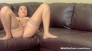 Hottest pornstar London Keyes in Exotic Stockings, Masturbation xxx movie