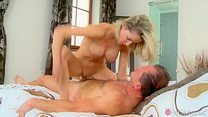 Horny pornstars Sunny Jay, George in Crazy Romantic, MILF sex video