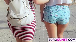 Euro sluts get dicked