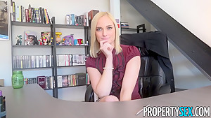 PropertySex Hot Blonde Agent Kate England Lands New Client