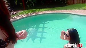 Lola Milano, Nadine Sage In Poolside Surprise