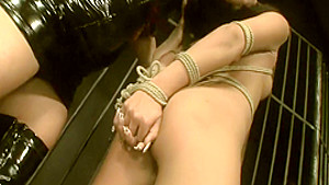 Naughty Maya shows off her sexy curves while being punished by her mistress