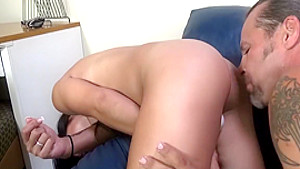 Exotic cutie with perky titties and a sublime ass is a sucker for cock