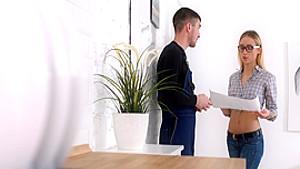 Casual Teen Sex - Ria - Teeny assfucked by a handyman