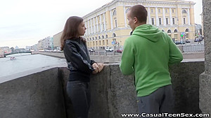 Casual Teen Sex - Candy Julia - Straight shooter gets a lucky fuck