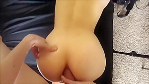Anal Sex POV - He Cums in her Asshole