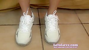 Lelu Love-POV Footjob Cum In Sneakers
