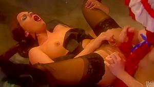 Fantasy lesbians Jayme Langford and Kirsten Price
