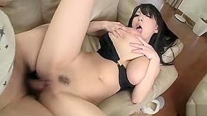 Hot busty oriental experienced female Hitomi Tanaka in handjob porn video