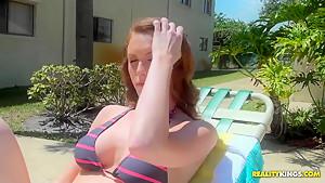 A funky handjob and tittyfuck from hottie Jenni Blaze in the bathroom