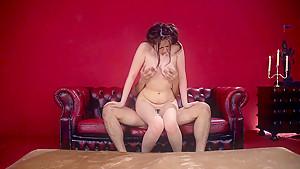 Curvy MILF Aoi Aoyama Fucks On The Couch