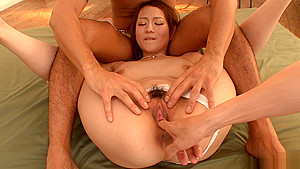 Reon Otowa rides multiple cocks for a creampie in asian group sex